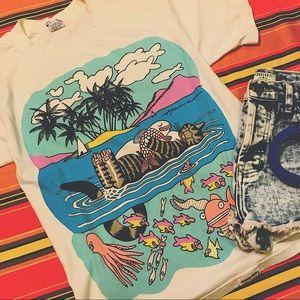 2PP VINTAGE // White Hawaii souvenir t-shirt